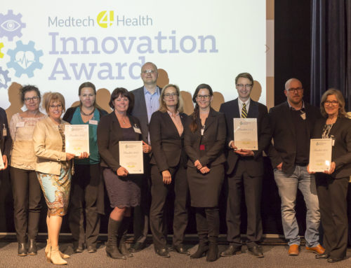 Vinnaren i Medtech4Health Innovation Award 2017 korad under Swedish Medtechs konferens