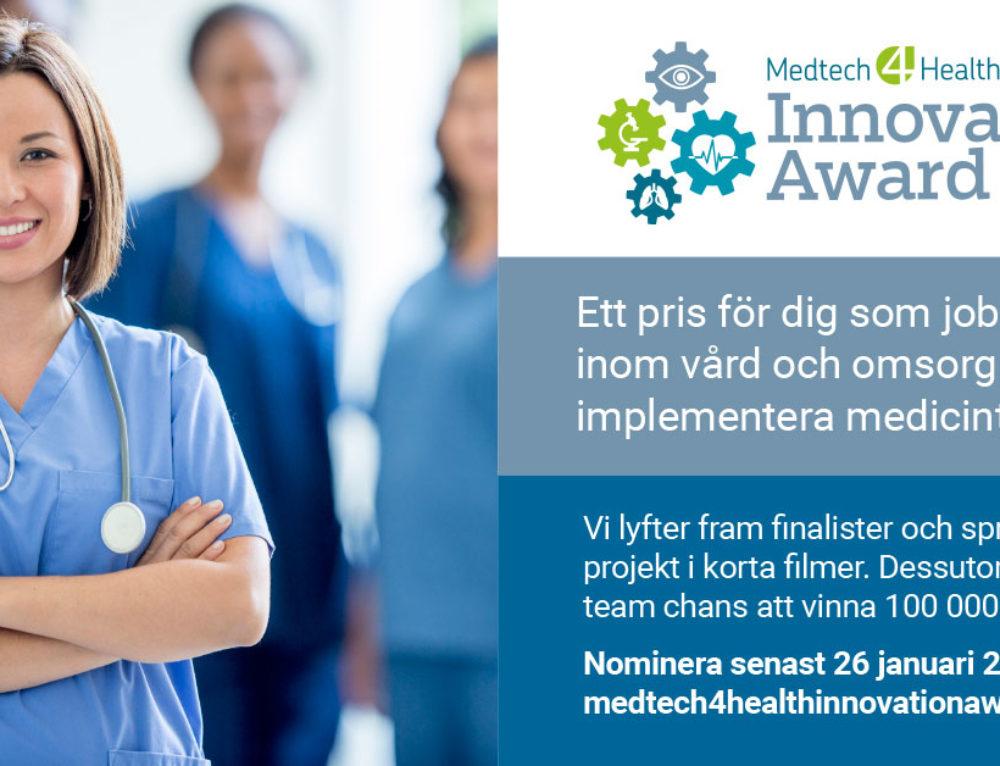 Nominera till Medtech4Health Innovation Award