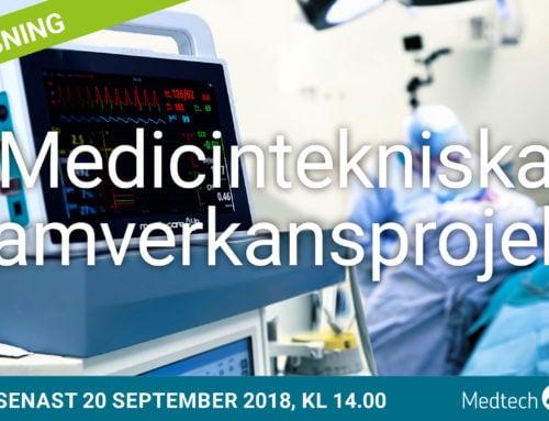 Utlysning: Medicintekniska samverkansprojekt 2018