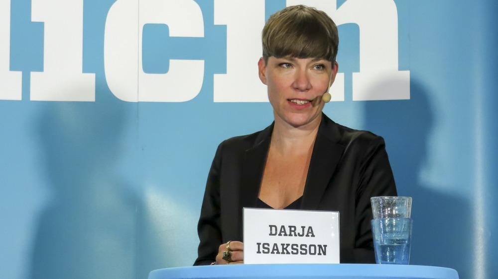 Rewarding day: Darja Isaksson of Vinova