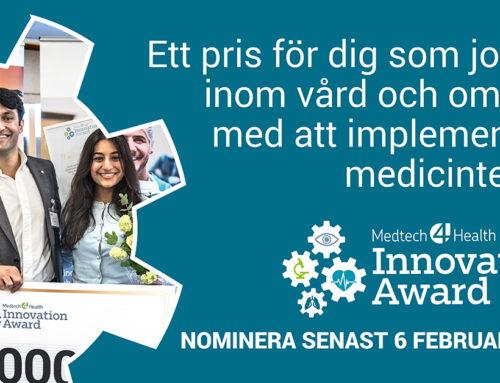 Vill du sprida inbjudan till Medtech4Health Innovation Award 2019?