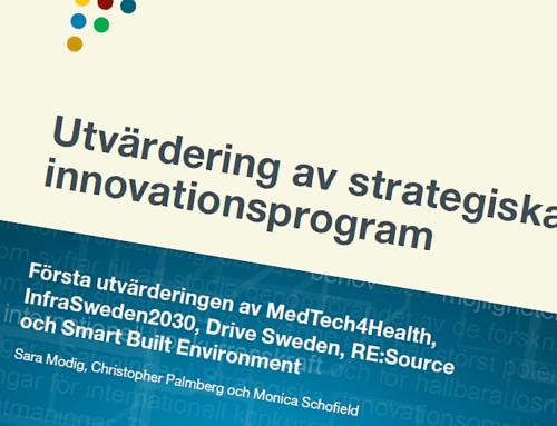 Utvärdering och resultat av Medtech4Healths första tre årsperiod