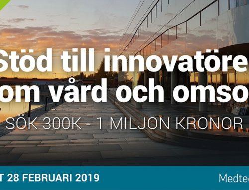 Stöd till innovatörer inom vård och omsorg 2019