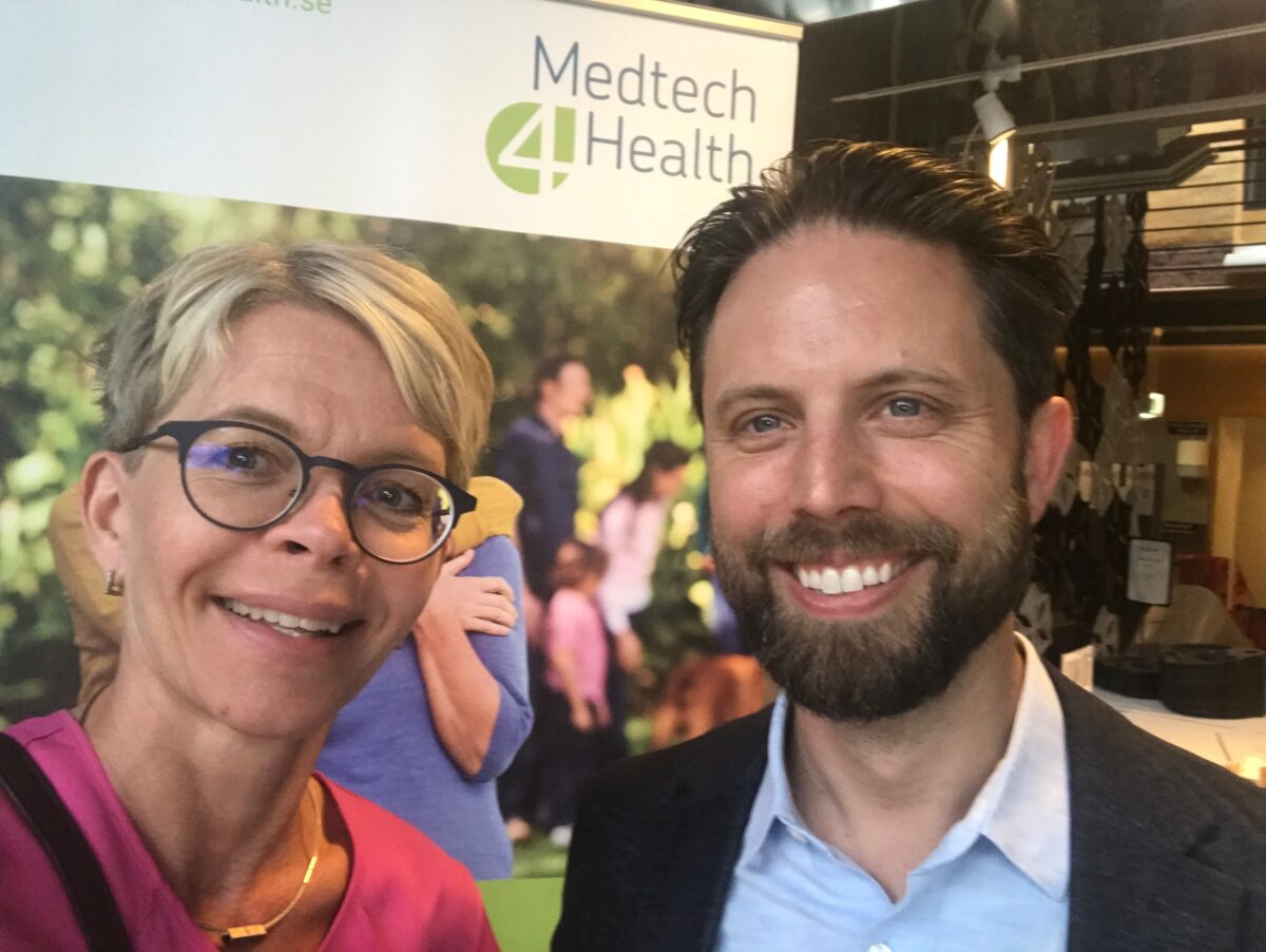 Above: Mona Jonsson and Jonas Sareld from Medtech4health