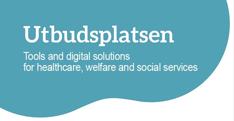 Utbudsplatsen (Eng) header image: Tools and digital solutions for healthcare, welfare and social services